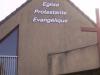 """Vue numéro 2 de notre église en avril 2012 après la pose de l'inscription """"église protestante évangélique"""""""